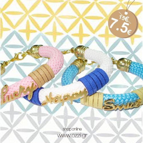 #happy #smile #lucky #bracelets #jewellery #gifts #summer2014 #fashion2014 #ozzi_jewellery
