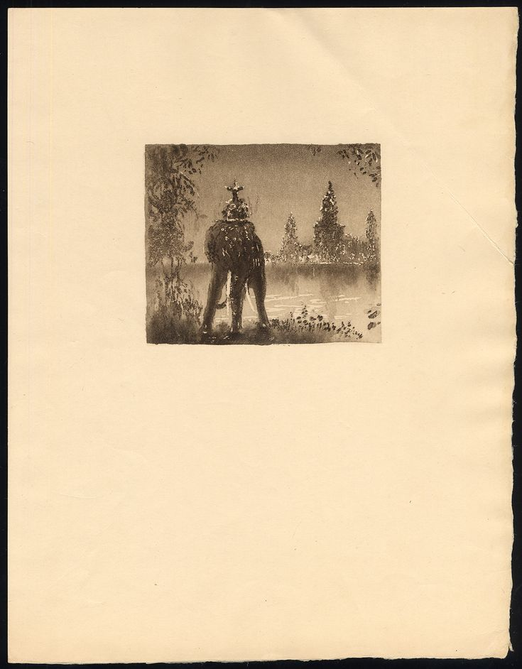 The Prints Collector :: Original ca. 1920's etching of a Birmese (?) temple.