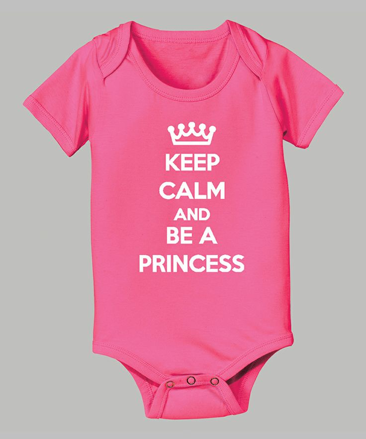 'Keep Calm and Be a Princess' Bodysuit