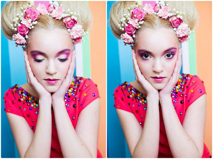 colors, candy, flowers, soft, pink, make-up, fashion, arina varga, sweet