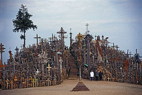 Vilnius - Lithuania  Rebels - their way of protest against the regime. Whenever the sowjets bulldozed their hill of crosses, they all just brought more crosses and built another hill again. Over and over. This was really impressive!