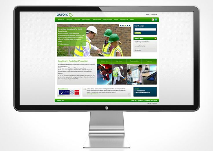Website Redesign  The brief was to keep Aurora's website redesign simple and clean with easy navigation. Another stipulation was it need to work with a Content Management System in mind. The selected concept was a modular design solution retaining the green and blue of their logo. Images and content were taken from the existing website with a few minor adjustments. The overall effect was a fresh, clean and modern website that portrayed professionalism.