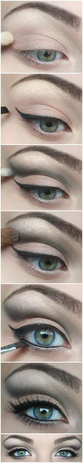 Winged Eyeliner Tutorial eye shadow how to diy makeup eye makeup eye