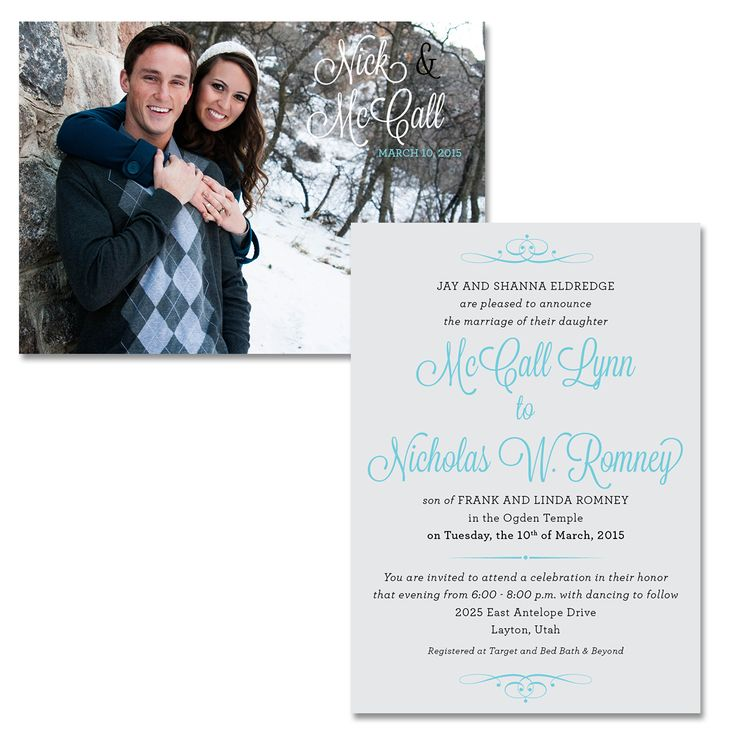 bed bath and beyond wedding invitation kits%0A Utah Wedding Invitations and Utah Wedding Announcements