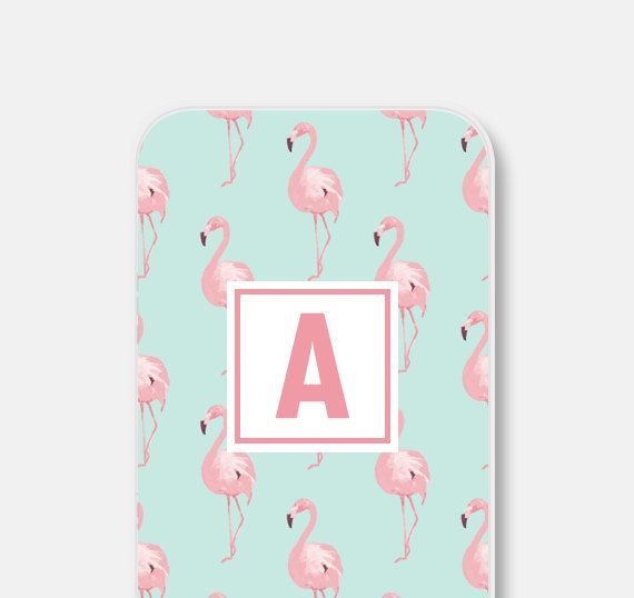 Personalized iPhone 6 Case Personalized iPhone 5s Case Personalized iPhone Case Monogram iPhone 6s Case Flamingo iPhone 5 Case Pastel (18.00 USD) by fieldtrip