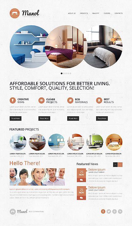 circle based web design - Web Design Project Ideas