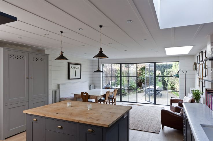 much more interesting than bifold doors at the end of the kitchen