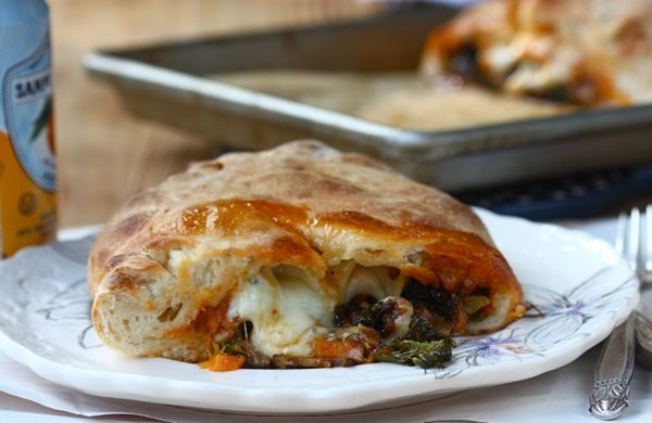 broccoli rabe ricotta calzones with sausage and broccoli rabe recipe ...