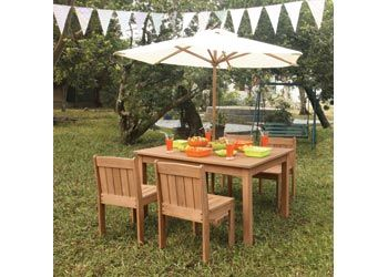 Outdoor Wooden High Table and Chairs – Set of 5 - MTA Catalogue
