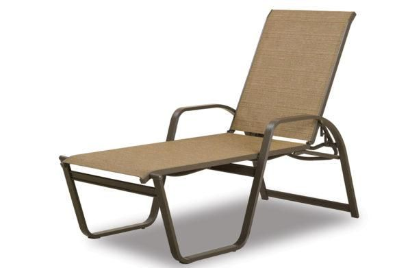 Aruba Ii Sling Four Position High Bed Lay Flat Stacking Chaise With Images Chaise High Beds Outdoor Chairs