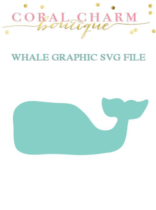 Whale Svg File By Coralcharmboutique On Etsy Silhouette