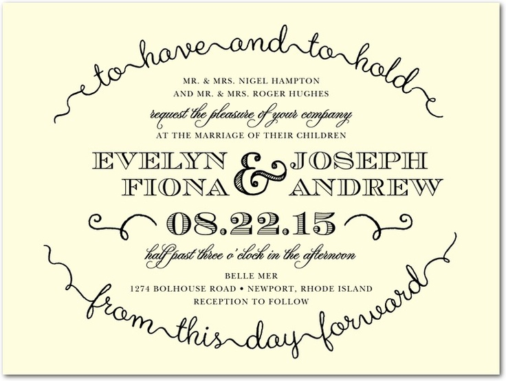 Wedding Invitation Lines: Quotes From This Day Forward. QuotesGram