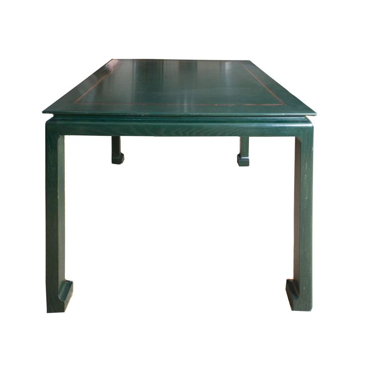 Green Lacquered Asian Games Table with Gold Detail | 1stdibs.com