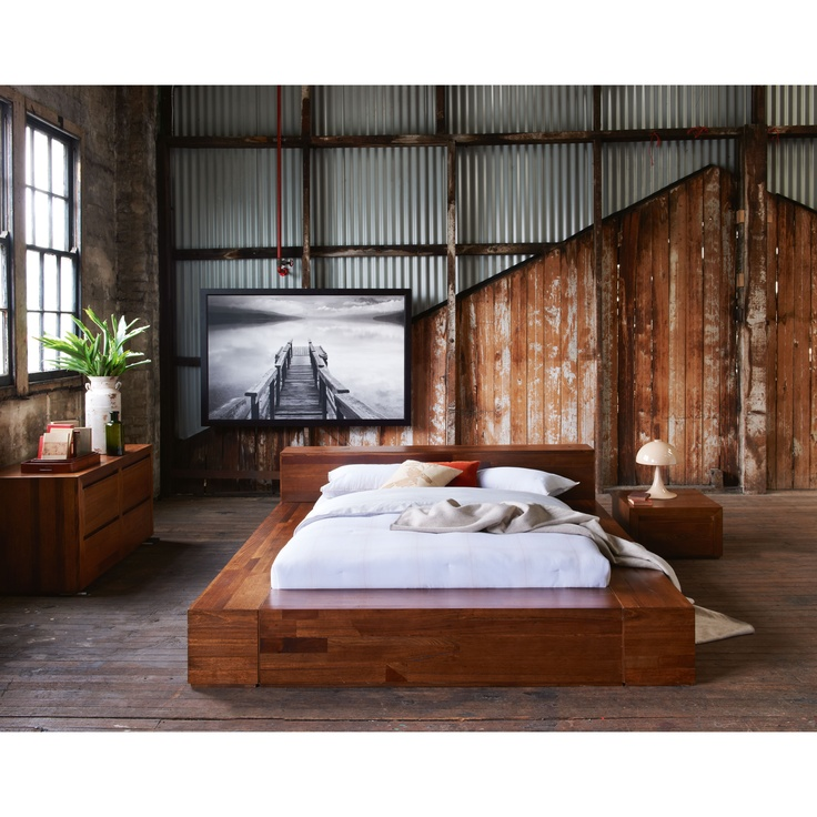 Pod Bedframe | Exposed timber and textures are trending for Autumn.
