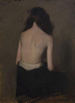 "Hugh RAMSAY ""Seated girl"" c. 1894 - 1906"