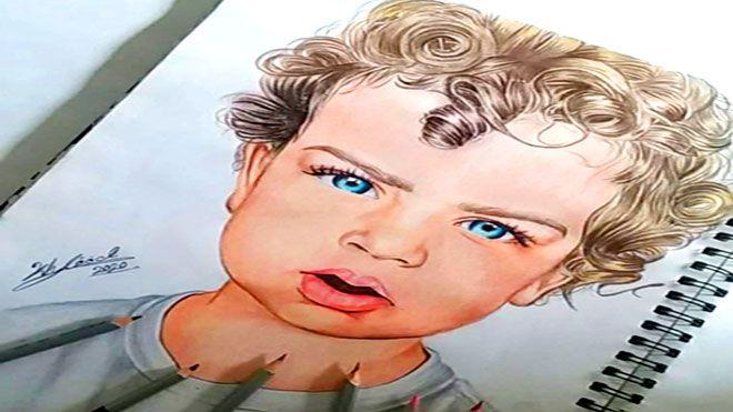 خلود الشابة اليمنية التي تطمح في ترجمة معاني البساطة من خلال رسوماتها تولد الموهبة مع صاحبها ولكنها الرسم ثقافةوفن Www Alayyam Info Art Male Sketch Male