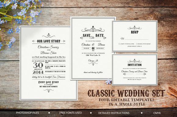Best Classic Wedding Pack by NinaDolgopolova on Creative Market