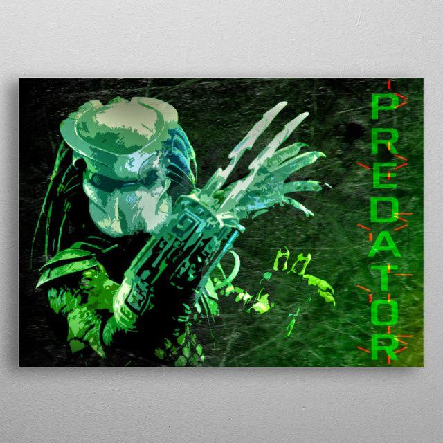 Predator  Movie Poster printed on metal. SALE! Use code: ALLSTAR Buy 3-4 get 15% OFF   5+ 20%