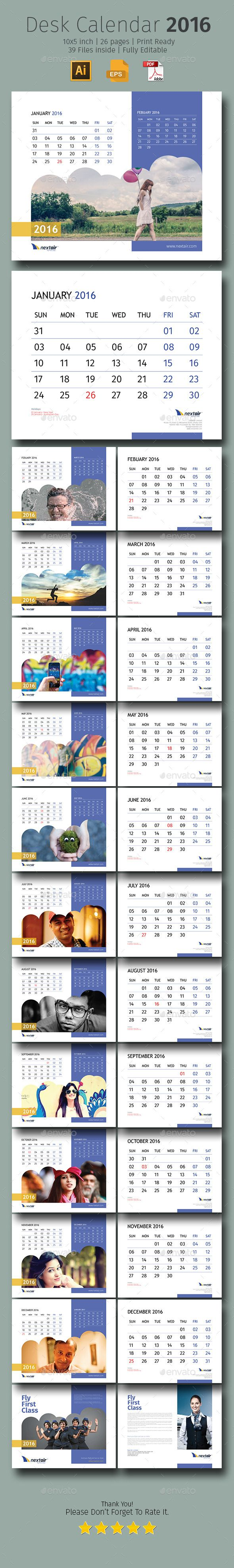 2016 Desk Calendar #design Download…