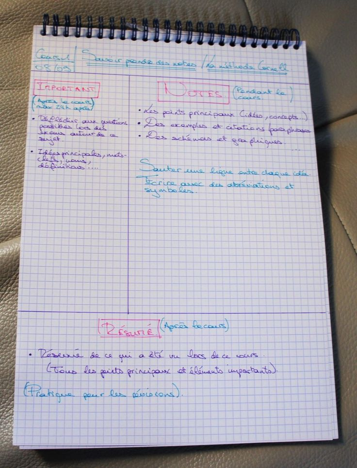 comment prendre des notes sans se prendre la t u00eate en cours