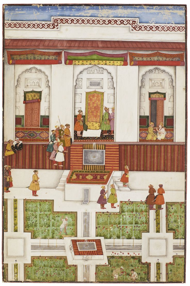 Attributed to the Early Master at the Court of Mandi. Narada warns Kamsa. An illustration to the Bhagavata Purana, Gouache and gold on paper, Mandi, ca. 1635-50
