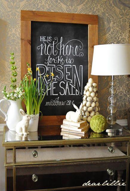 Pinterest Religious Easter Decorating Ideas   Visit Dearlillieblog Blogspot  Com