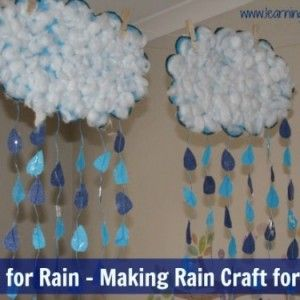Alphabet Letter 'R' Craft Activity for kids - R is for Rain and Making a Rain Craft. sing a long to Rain is Falling Down and encourage language development #alphabetletterRactivities