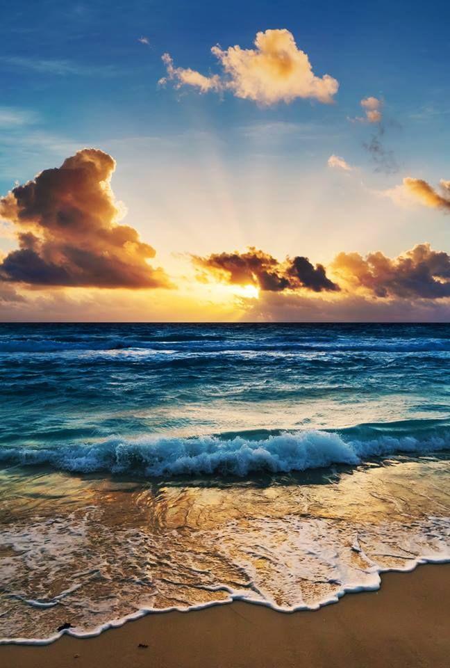 De zon in zee zien zakken :)