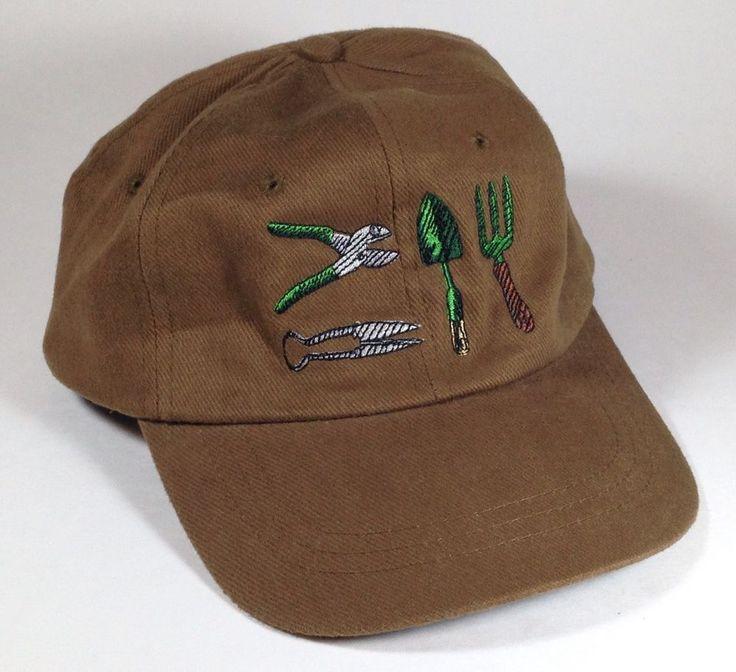Gardening Tools Hat Baseball Cap Outdoors Planting Brown Won't Show Dirt #HeadShotsbyKCCaps #BaseballCap