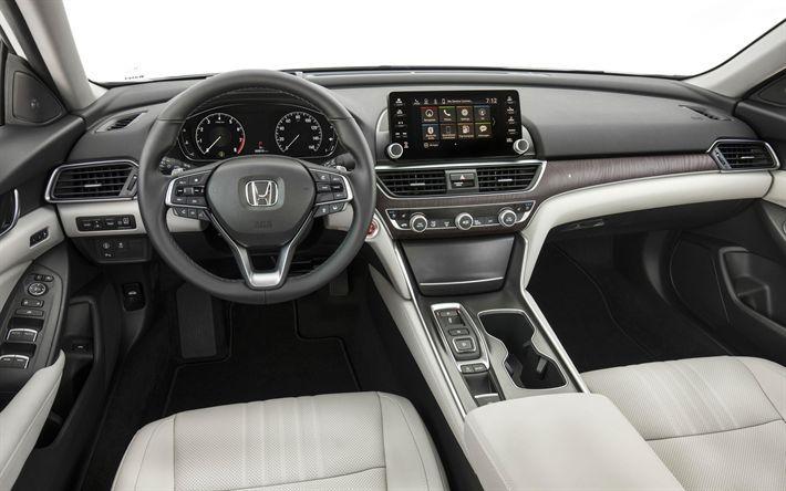 Download Wallpapers Honda Accord Sport 2019 4k Interior Front