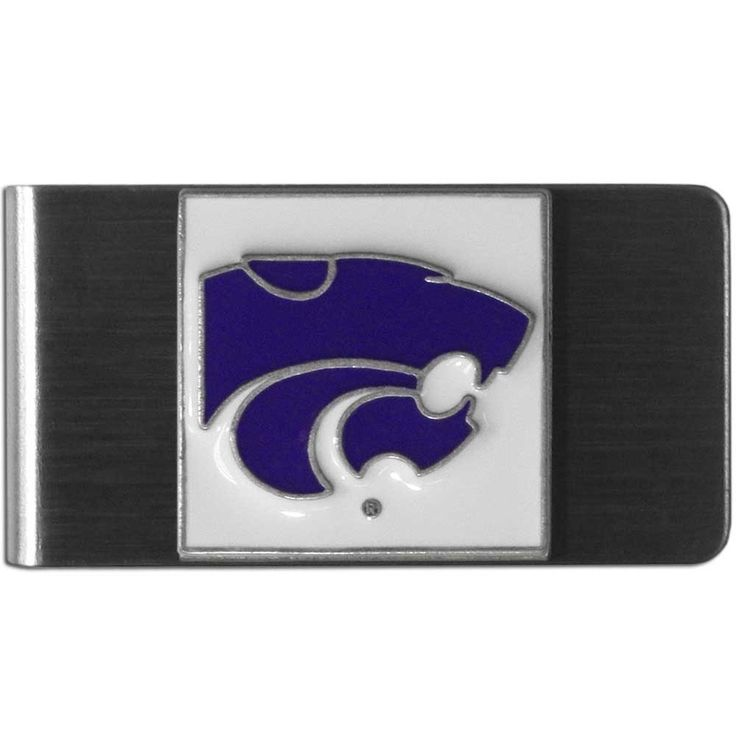 """Checkout our #LicensedGear products FREE SHIPPING + 10% OFF Coupon Code """"Official"""" Kansas St. Wildcats Steel Money Clip - Officially licensed College product Stainless steel money clip Strong clip securely holds your cash Makes a great gift for an avid sports fan Money ClipsKansas St. Wildcats emblem - Price: $16.00. Buy now at https://officiallylicensedgear.com/kansas-st-wildcats-steel-money-clip-cmcl15"""
