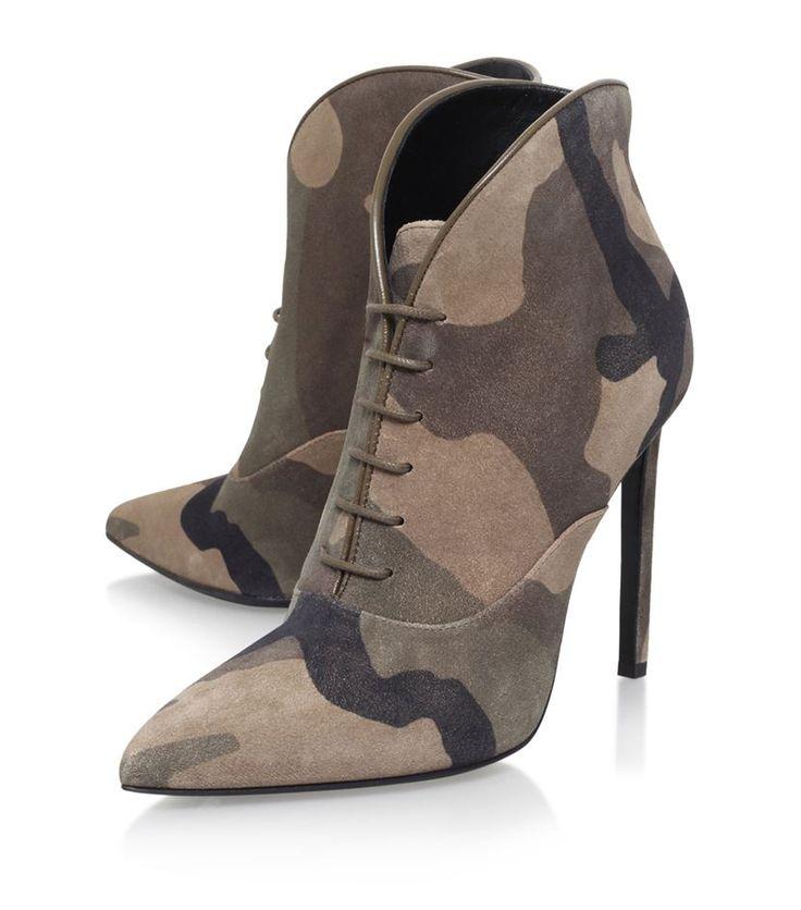 Saint Laurent Paris 105 Camouflage Ankle Boot