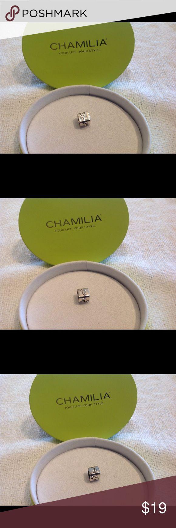 Chamilia Charm, World Class Retired Bead Chamilia Charm, Retired World Class bead. Silver. New. Never worn. Will work with Pandora bracelet. Chamilia Jewelry Bracelets