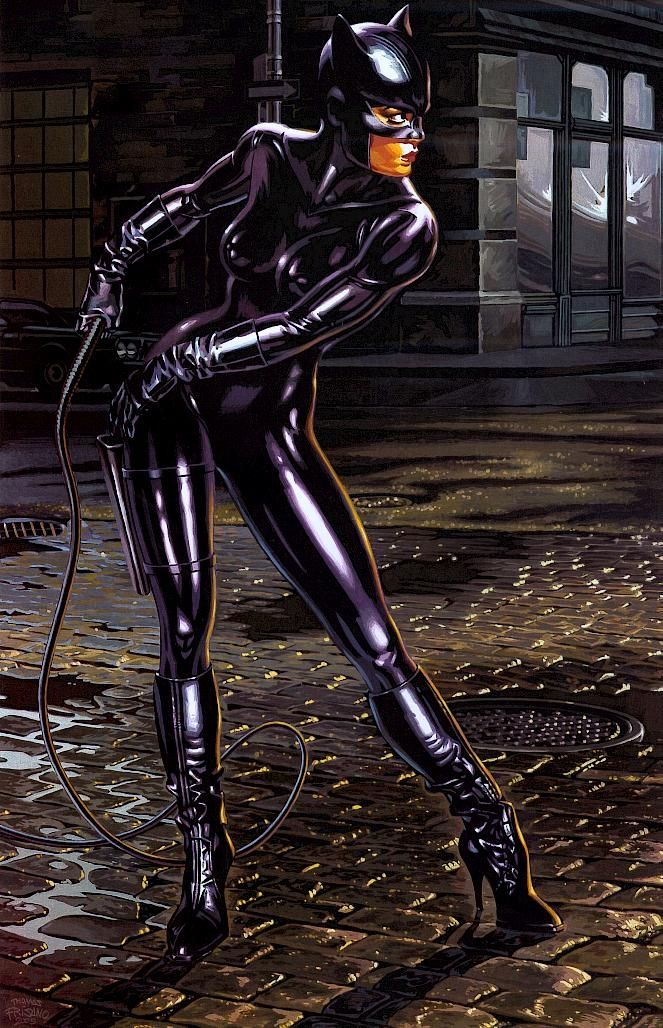image Catwoman meows and spoiled her self till you give her your milk