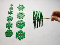 How to make a 3-d christmas tree out of pearler beads.. wonder if you could scale this up?