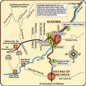 Arizona Map Sedona Az Bing Images