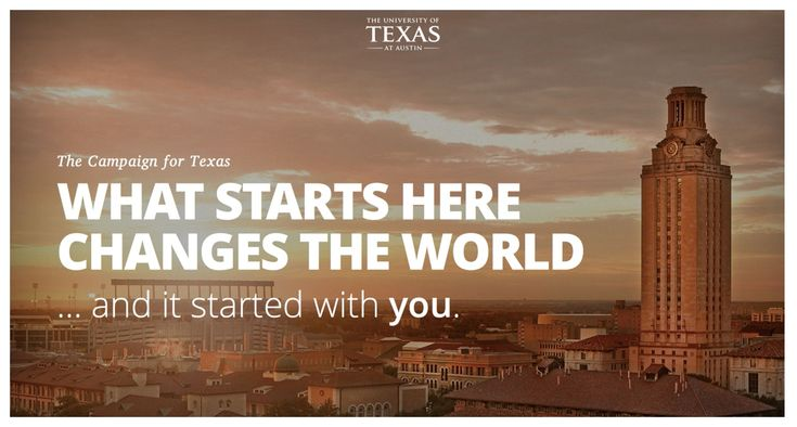 University of Texas at Austin Capital Campaign Website