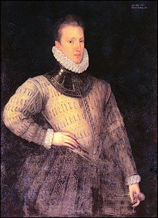 Sir Philip Sidney Portrait, 1576, at Penshurst Place-Nephew of  Robert Dudley, Earl of Leicester. named after his godfather King Philip II of Spain. In love with Penelope Devereux, but married Frances Walsingham, daughter of Sir Francis Walsingham, in 1583. 1586 Sidney, took part in a skirmish against the Spanish at Zutphen, and was wounded of a musket shot that shattered his thigh-bone. Twenty-two days later the great poet Sidney died of the unhealed wound.