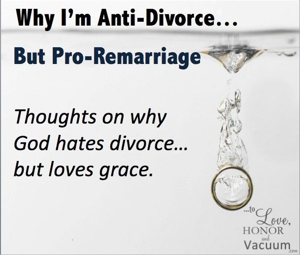 Thoughts on the biblical grounds for divorce, what it says about remarriage, and to value both married AND divorced people in the church. http://tolovehonorandvacuum.com/2015/01/im-anti-divorce-pro-remarriage/?utm_campaign=coschedule&utm_source=pinterest&utm_medium=Sheila%20Wray%20Gregoire&utm_content=Why%20I%27m%20Anti-Divorce%20and%20Pro-Remarriage