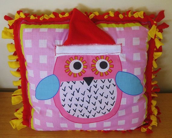 Soft vibrantly coloured cuddly soft throw cushions / by C3N2KIDS, $20.00
