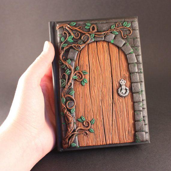 MADE TO ORDER Secret door journal Polymer clay by MerryGreenKiwi