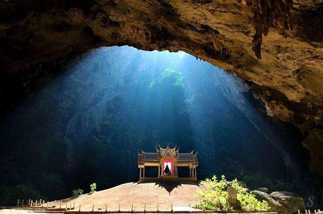 <3 a Buddhist temple built inside the Phraya Nakhon Cave // Khao-Sam-Roi-Yot National Park, Thailand