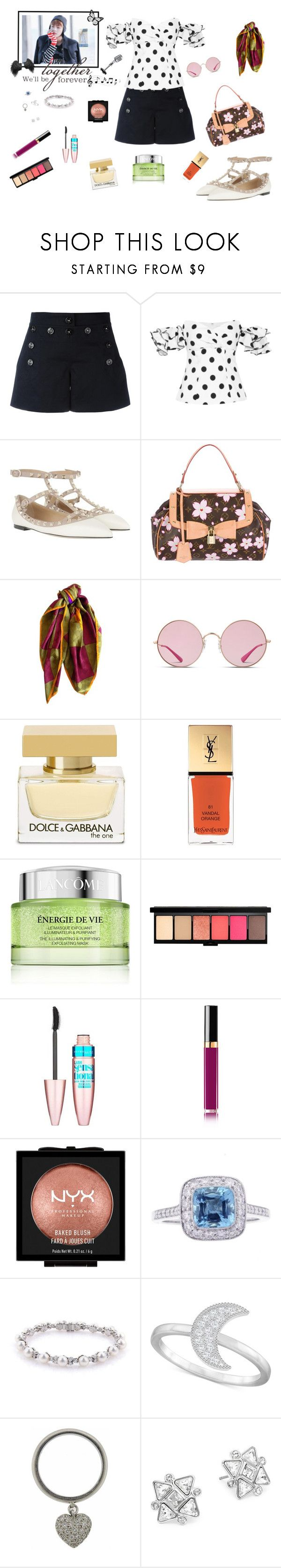 """V's girl - And he called me to watch the training..."" by raven-costa on Polyvore featuring moda, Dolce&Gabbana, Caroline Constas, Valentino, Louis Vuitton, Lanvin, Ray-Ban, Yves Saint Laurent, Lancôme e MAC Cosmetics"