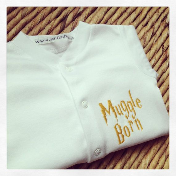 Hey, I found this really awesome Etsy listing at http://www.etsy.com/listing/159598756/harry-potter-muggle-born-baby-grow