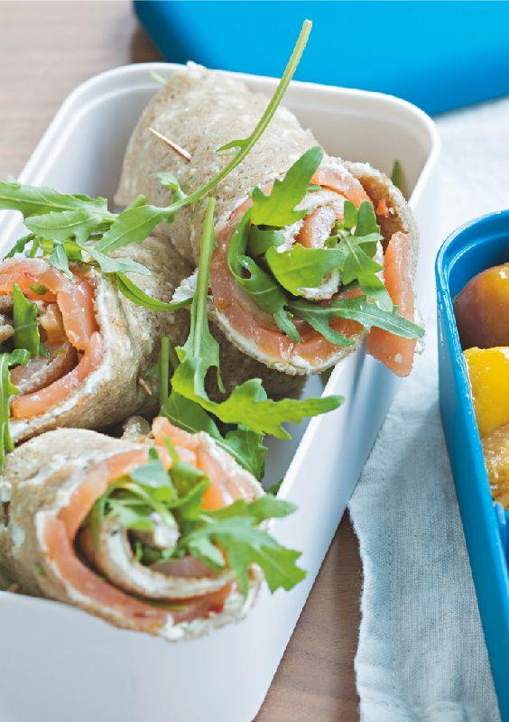 Recette: #Wrap de galette de blé noir au #saumon et #fromage frais