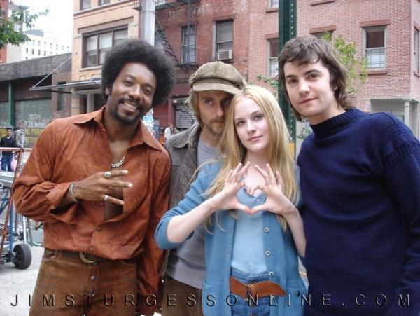 Some of the cast from Across the Universe.  Martin Luther McCoy,Joe Anderson, Evan Rachel Wood, and Jim Sturgess.