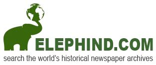ELEPHIND.COM search the world's historical newspaper archives #hackgenealogy #genealogy #newspapers