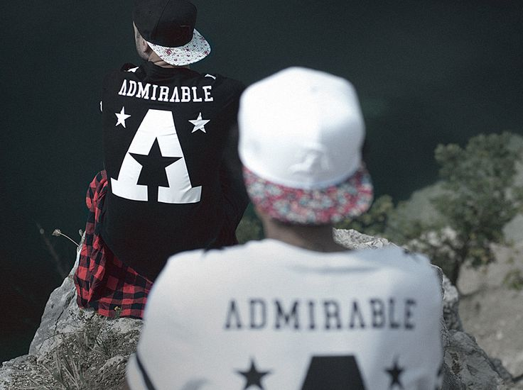 Admirable. Street Style. Fashion. Black & White. Typography. Big Print. Youth. Men. Cap. Pattern. Stars. Clothing. Attitude.