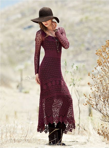 Sybil Pima Cotton Crochet Maxi Dress from Peruvian Connection.