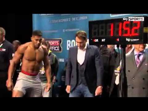 Anthony Joshua vs. Dillian Whyte - WEIGH-IN - Boxen1.com - aktuelle Boxsport News